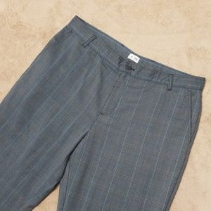 ADIDAS mens golf pants,  flat front plaid pants